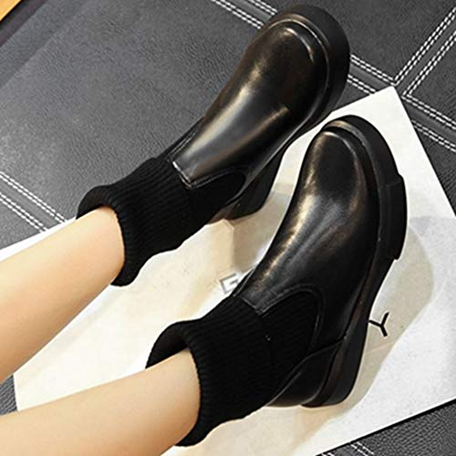 Black Casual Boots Sport Sjjh Women Ankle pH6qwffa4c