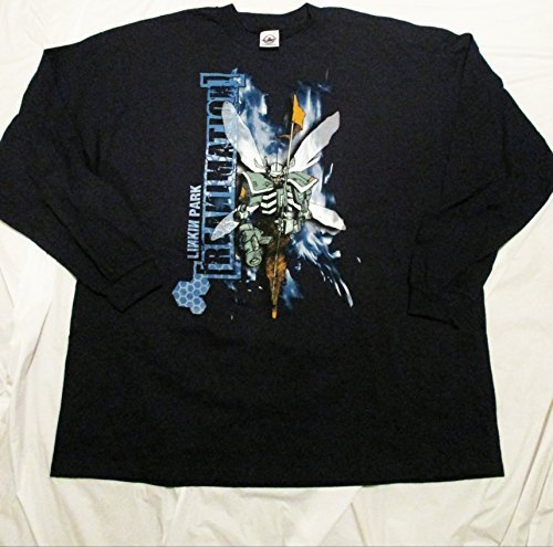 Linkin Park Reanimation Tour Long Sleeve Concert T-Shirt 2XL XXL XX-Large