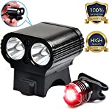 Nitemate Bike Lights Front and back Set With Free Tail Light, USB Rechargeable Bike Headlight and Helmet Light 2 in 1