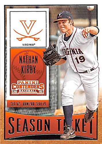 Nathan Kirby Baseball Card Virginia Cavaliers Milwukee Brewers