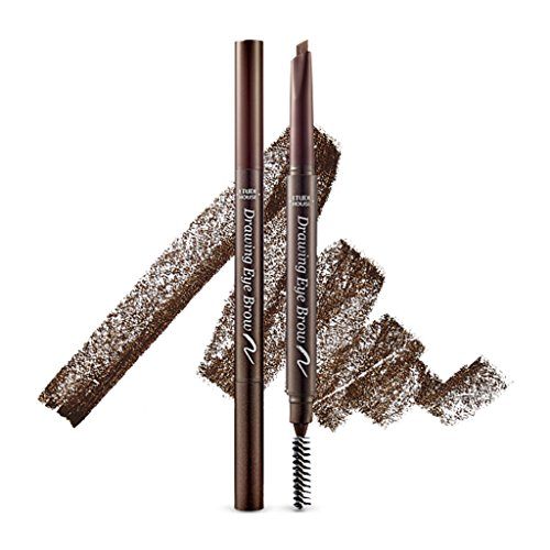 ETUDE HOUSE Drawing Eye Brow 0.25g #3 Brown - Long Lasting Eyebrow Pencil. Soft Textured Natural Daily Look Eyebrow Makeup