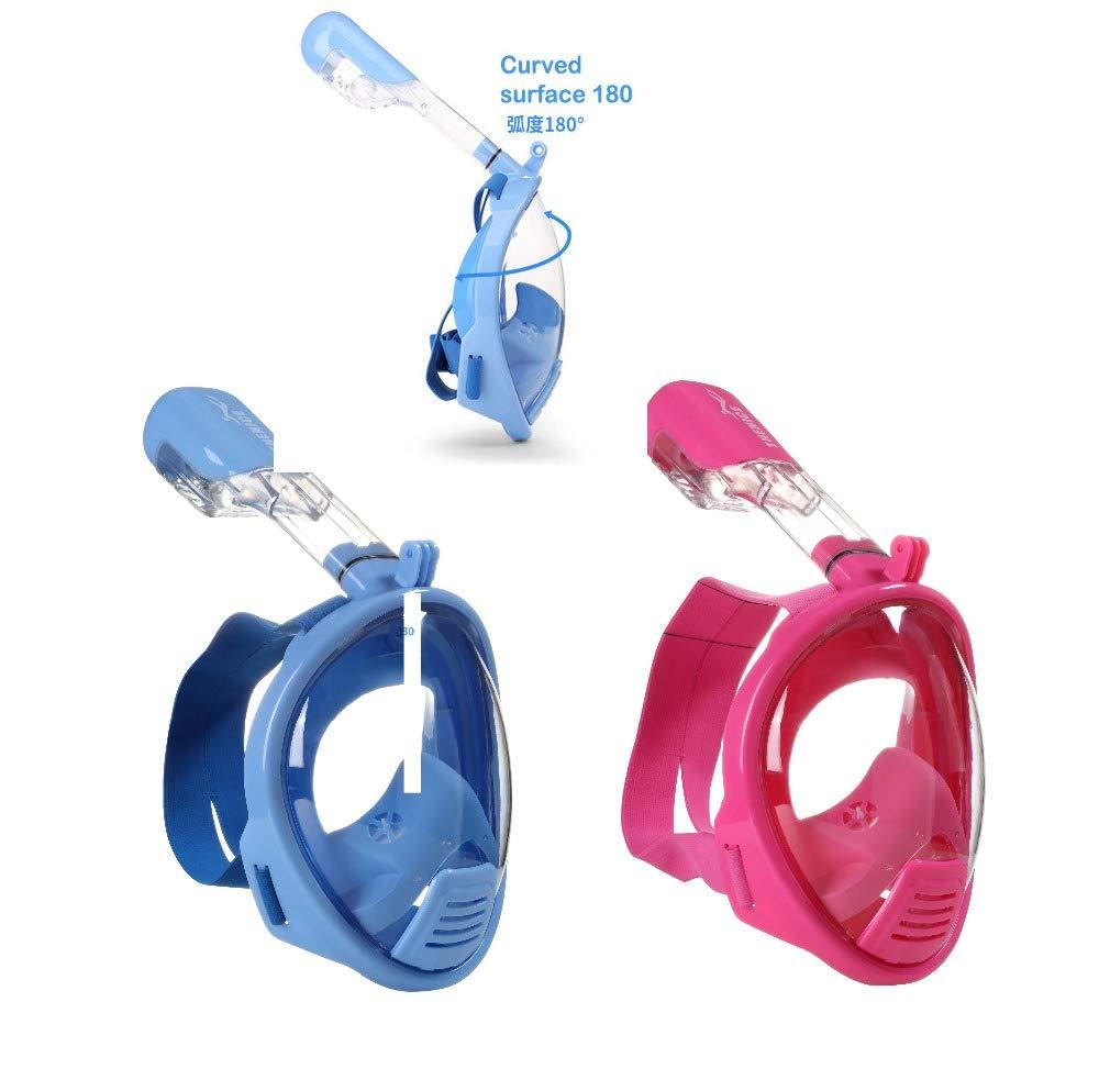 SunRhyme - Máscara de Buceo para niños, Talla XS, Color Azul y Rosa, Infantil Niños niña, Rosa: Amazon.es: Deportes y aire libre