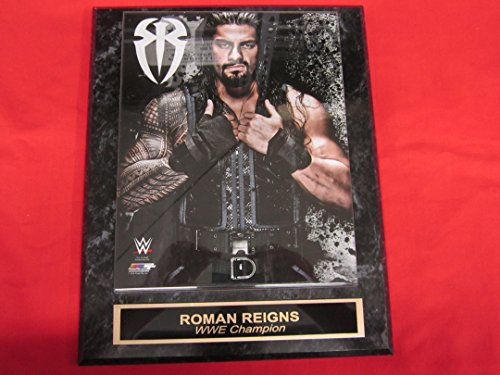 WWE Roman Reigns Engraved Collector Plaque #2 w/8x10 Photo WWE CHAMPION