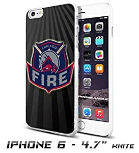 Soccer MLS CHICAGO FIRE FC LOGO SOCCER FOOTBALLCool iPhone 5s Inch Smartphone Case Cover Collector iphone TPU Rubber Case White [By PhoneAholic]