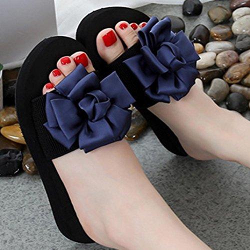 flops Estar Mujer Open Blanda Con Sandalias Paolian Moda Chanclas Por De Casa Zapatos Floral Flip Zapatillas Playa Para Antideslizante Plataforma Suela Casual Azul Toe Verano 2018 Y q1wfwxCg