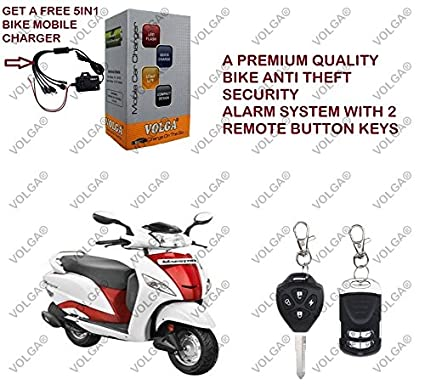 Volga Anti Theft Security Alarm System For Hero Maestro With 2 Keys