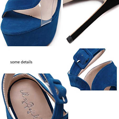 Beauqueen Piattaforma OL Pompini Peep-toe Cintura Fibbie Stiletto Alta tacco Donne Fashion Concert Shoes 34-40