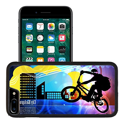 (Liili Apple iPhone 7 plus iPhone 8 plus Aluminum Backplate Bumper Snap iphone7plus/8plus Case BMX cyclist Photo 15948980 )