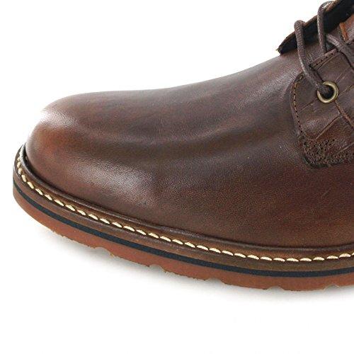 FB Fashion Boots Rehab Carl Croco Brown/Herren Schnürstiefel Braun/Urban Boots/Schnürschuhe Brown