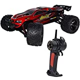 PowerLead High Speed 1/12 Scale RC Car 2.4Ghz 2WD Remote Control Trucks Radio Remote control Off Road Truck Off-Road 40+KM/H for Children-Red color