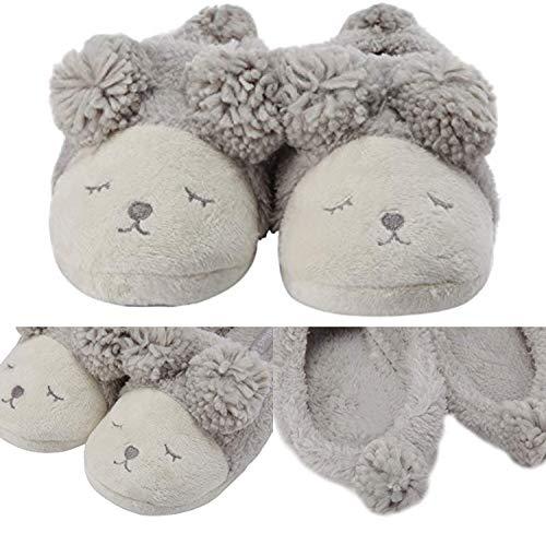 Back sheep Indoor open Plush Memory Slippers Warm House Balabala Winter Mini Slip Foam Non Boots Women's Cozy Grey Shoes Fleece tUqTCxH