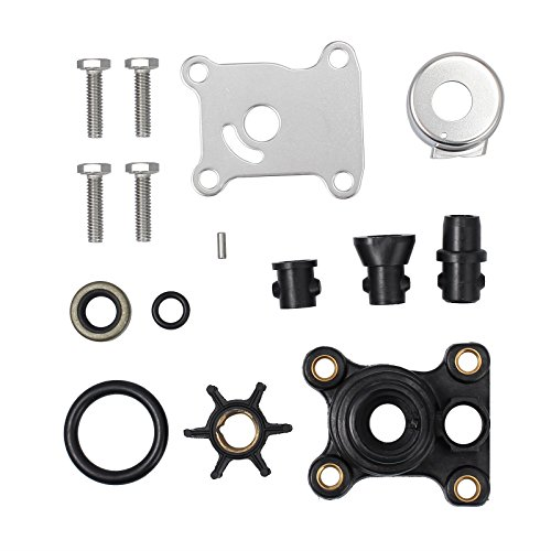 AUTOUTLET Impeller Water Pump Repair Kit Replaces for OEM 0394711, 9.9hp/5hp Johnson/Evinrude 2 Stroke 1974 & Later, Johnson/Evinrude 4-Stroke 1995 & Later