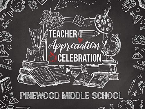 Teacher Appreciation Day Banner, Backdrop, Teachers Day, Teacher Gift, Chalkboard, Welcome Back to School, First Day of School, Wall Decor, Handmade Party Supply, Print Size 36x24, 48x24, 48x36, 24x18