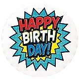Lucks Edible Image, Birthday Comic, 12 Count