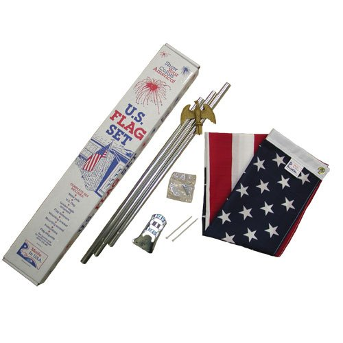 US 3x5 foot E-poly porch flag kit - economy grade hardware