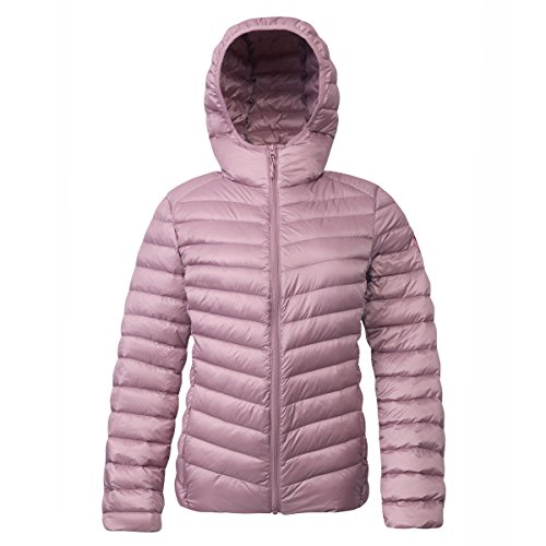- Rokka&Rolla Women's Ultra Lightweight Hooded Packable Puffer Down Jacket (XL, Nostalgia Rose)