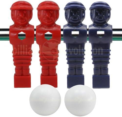 4 azul y rojo torneo estilo futbolín Hombres y 2 pelotas de suave ...