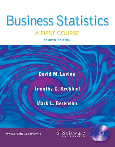Business Statistics: First Course and Student CD (4th Edition)