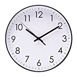 Epy Huts Wall Clock Living Room,Indoor Non-Ticking Silent Quartz Quiet Sweep Movement Wall Clock Office,Bathroom,Living Room Decorative 10 Inch White For Sale