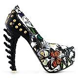 SHOW STORY New Bone High Heel Platform Bone Heels Shoes,LF80626WT38,7US,Green
