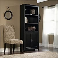 Pemberly Row Library Bookcase in Estate Black