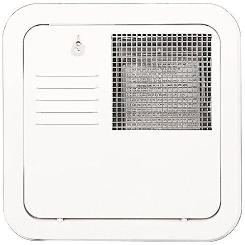 Suburban 6259APW Flush Mount 10 Gallon Water Heater Door-Polar White (Water Suburban Gallon Heater 10)