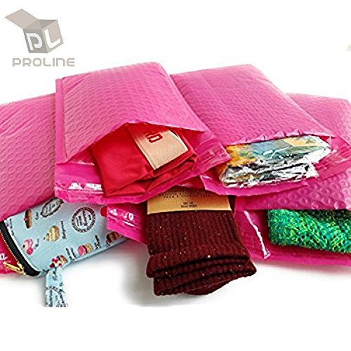 BESTeck Hot Pink Poly Bubble Mailers - 8.5X12 Inch Self Adhesive Padded Bubble Mailers – Waterproof Tear Resistant Envelopes (Pack of 25) by BESTeck