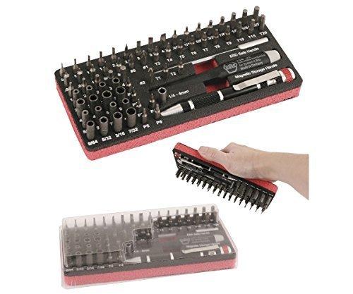 Wiha Tools 75968 Master Tech ESD Micro Bit 68PC Work Station Set w/Dust Cover