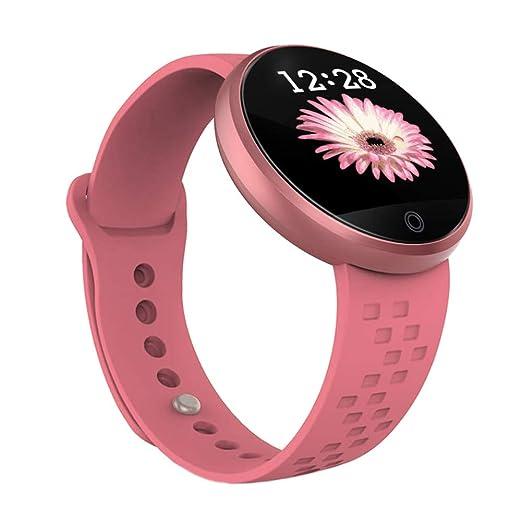 Slri Mujer Reloj Inteligente Deportes Fitness Tracker Calorías cardíacas Monitor de sueño Pulsera - Rosa: Amazon.es: Relojes