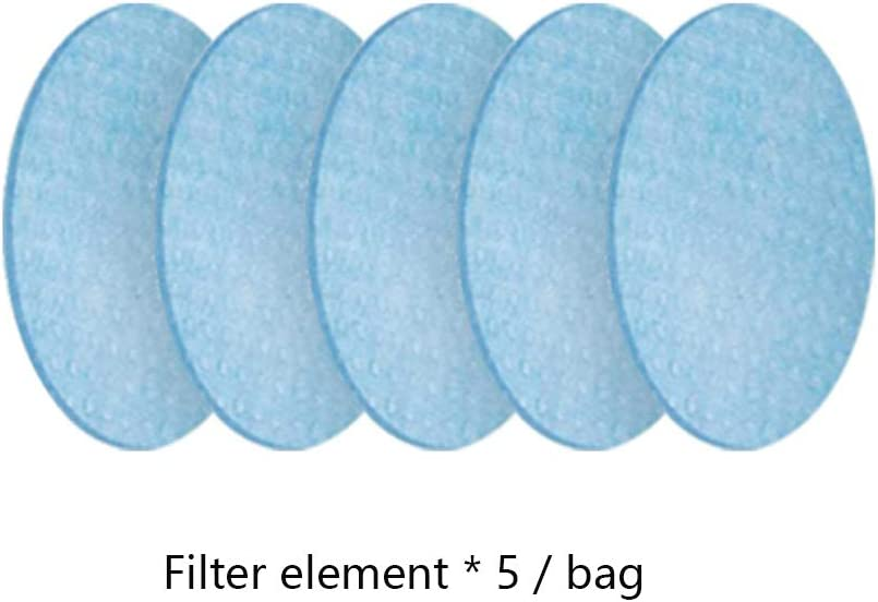 purificador de Aire antipoluci/ón Filtro de carb/ón Activado Reutilizable con 5 filtros compuestos para Motocicletas de Ciclismo al Aire Libre,Face Cover JJIIEE Protector de Cara Inteligente el/éctrico