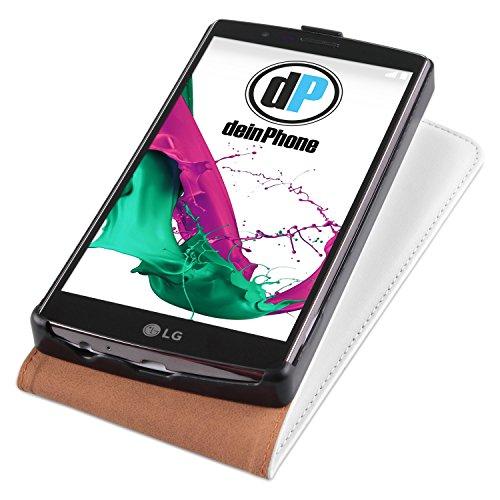 Diseño LG G4 funda de piel con blanco