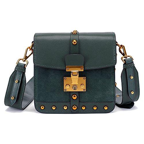 GUANGMING77 Single Schultertasche_Small Shoulder Bag Xiekua Paket Sperren Kleine Schultertasche green