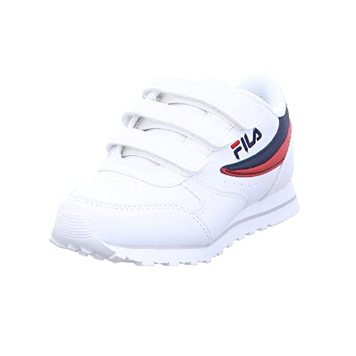 Fila Zapatillas de Material Sintético para Niña Blanco Bianco/Dress Blues: Amazon.es: Zapatos y complementos