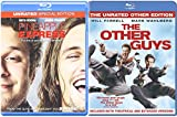 The Other Guys Blu Ray + Pineapple Express Blu Ray Fun Comedy movie Set Combo Edition