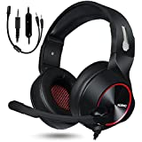 Gaming Headset for Xbox One PS4 PC Gaming and Nintendo Switch,Stereo Surround Noise Cancelling Over Ear Gaming Headphones with Mic Volume Control for Xbox 1 S Playstation 4 Laptop,PC,Mac,iPad (Red)