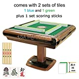 Japanese Automatic Mahjong Table 麻雀 マージャン with 2 Sets of 36mm Japanese Tiles + 4 Drawers + 1 Set Scoring Sticks + 1 Table Cover One Year Warranty