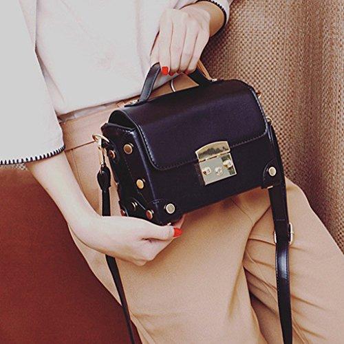 Petite boîte Sacs cuir PU Filles Retro sac Pouch épaule à bandoulière à main Messenger Femmes Noir Tote Lady en Republe p0Iwwq8