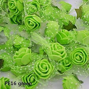 ARISLUX Box Paper - 50/100 Pcs 2cm Mini Pe Foam Flower Fake Artificial Rose for DIY Handmade Wedding Party Decor Scrapbooking Crafts Gift Box 8z 22