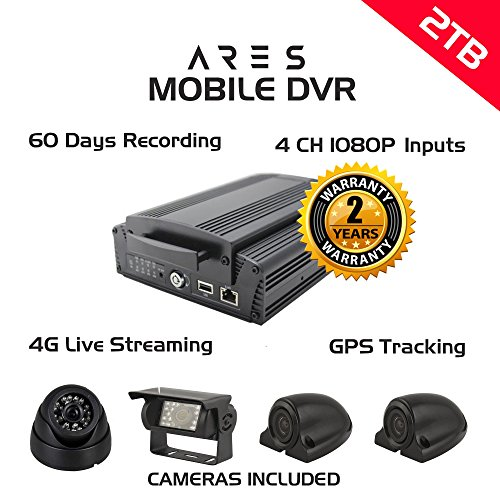 ARES 4CH 1080P Mobile DVR (+ GPS, 4G, WIFI, 2TB)