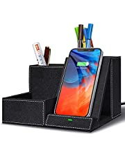 $27 » Topmade Fast Wireless Charger with Desk Organizer,Desk Storage,Multifunctional Desktop Organizer All in One Office Supplies and Desk Accessories Organizer with 3 Compartments and 1 Phone Stand