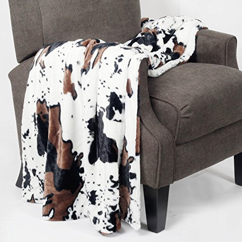 Home Soft Things Animal Printed Double Sided Faux Fur Throw, 60