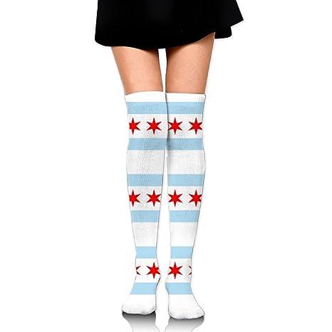 Amazon com: MC WUAHW Womens Above Knee Long Tube Socks Flag