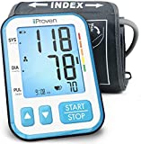 iProven Home Blood Pressure Monitor - Digital Blood Pressure Meter with Upper Arm Cuff - Large Screen with Backlight - 120-reading Memory (60x2 Users) - Batteries Included