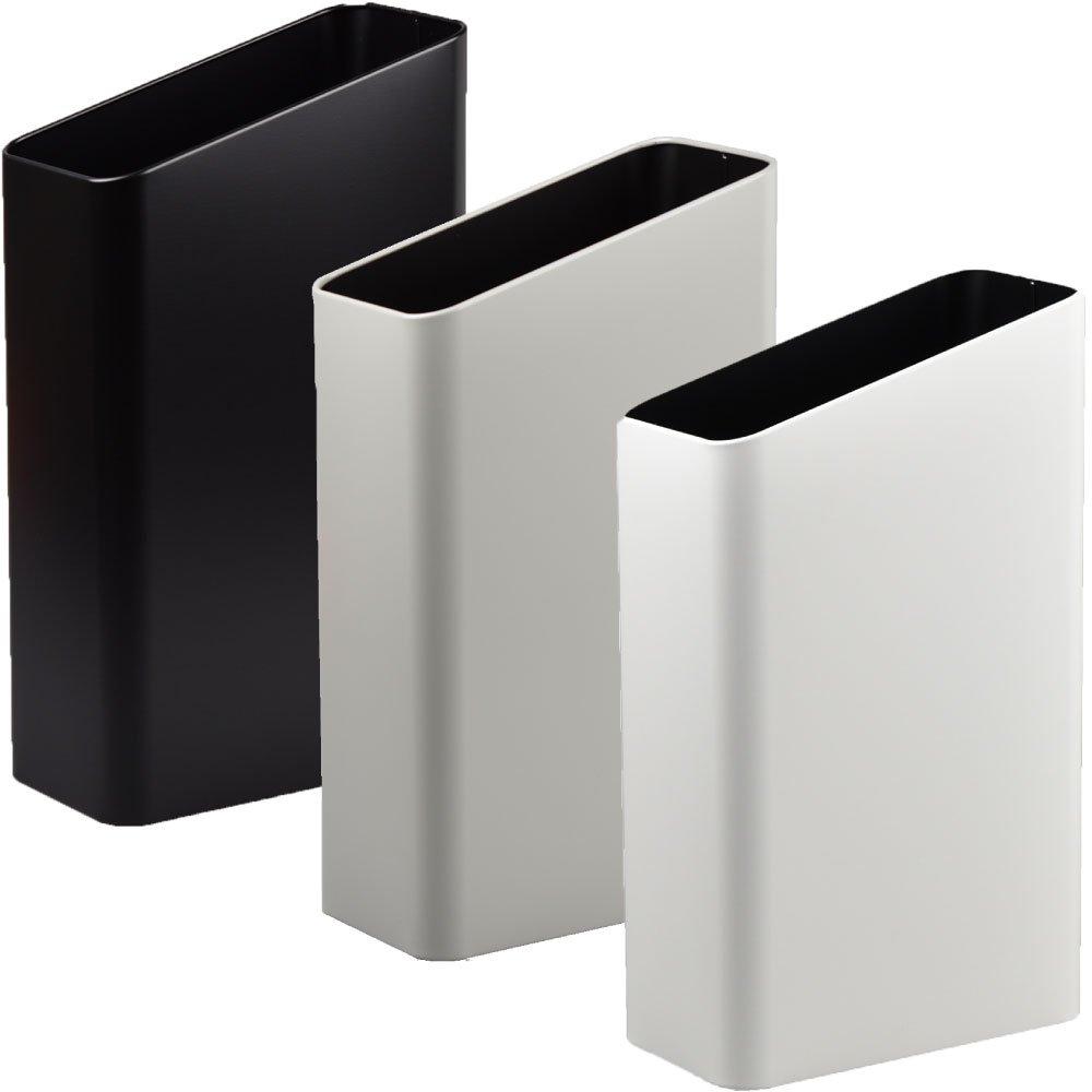ぶんぶく サイドバケット 大 全9色の中から選べる3個セット ゴミ箱 ごみ箱 ダストボックス おしゃれ 日本製 (ブラック×グレー×マットホワイト) B075GK4SHY ブラック×グレー×マットホワイト ブラック×グレー×マットホワイト
