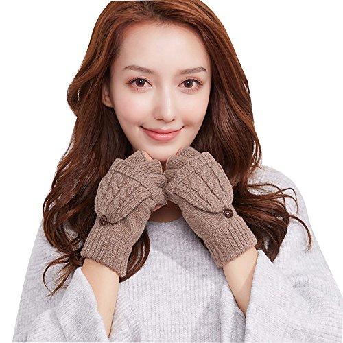 ペンス伝染性のしてはいけませんcimaryスレッドユニセックス暖かい半分指ストレッチニット手袋