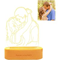 Personalized Photo Night Light USB Chargeable 3D lamp Nightlight for Kids or as Gifts for Women Kids Girls Boys