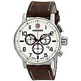 Wenger Men's 01.1243.105 Commando Chrono Analog Display Swiss Quartz Brown Watch
