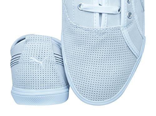 Puma Kreta L Perf Hommes Espadrilles En Cuir / Chaussures Blanc Cassé