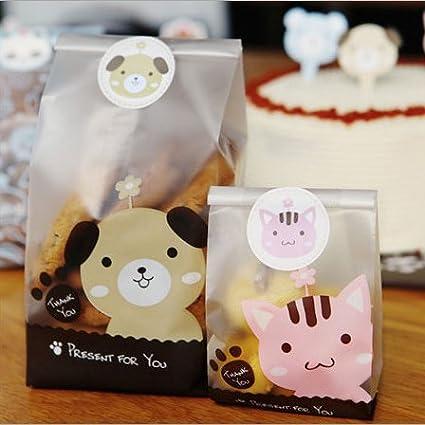 Amazon.com: Saasiiyo 10pcs/pack Plastic Biscuit Cookie Bag ...