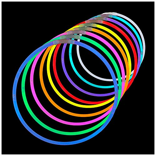 Lumistick Premium 22 Inch Glow Stick Necklaces with Connectors | Kid Safe Non-Toxic Glowstick Necklaces Party Pack | Available in Bulk and Color Varieties | Lasts 12 Hours